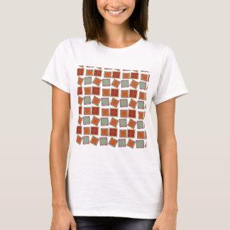 Caramel Squares Tilted T-Shirt