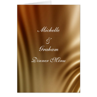 Caramel Wedding Set Card