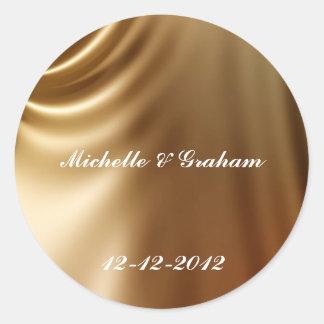 Caramel Wedding Set Classic Round Sticker