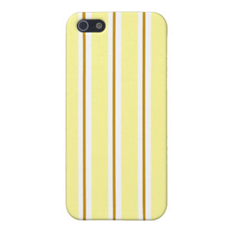 Caramel yellow and brown Stripes iPhone SE/5/5s Case