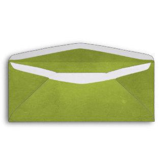 CARAMELIZED CARAMEL MOSSY SWAMP GREEN BACKGROUND W ENVELOPE