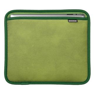 CARAMELIZED CARAMEL MOSSY SWAMP GREEN BACKGROUND W iPad SLEEVE
