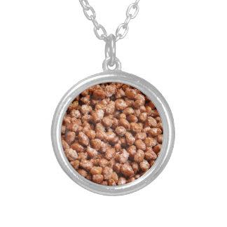 caramelized hazelnuts silver plated necklace