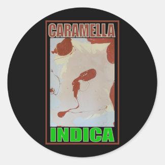 CARAMELLA INDICA ROUND STICKERS