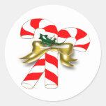 Caramelo 1 de Navidad Pegatina Redonda