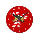 Caramelo 1 de Navidad Relojes De Pared