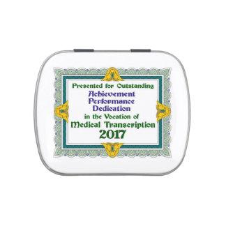 Caramelo 2017 del logro de la TA Frascos De Caramelos