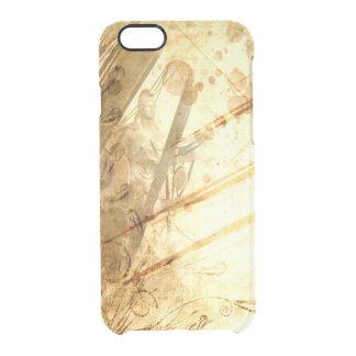 Caramelo ambarino del tono de la tierra del océano funda clear para iPhone 6/6S