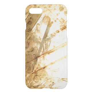 Caramelo ambarino del tono de la tierra del océano funda para iPhone 7