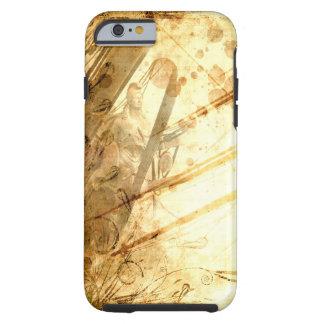 Caramelo ambarino del tono de la tierra del océano funda resistente iPhone 6
