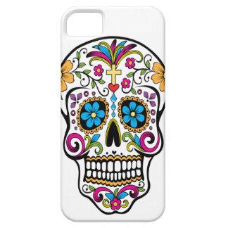 Caramelo blanco del cráneo para el iphone 5 funda para iPhone SE/5/5s