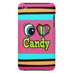 Caramelo brillante del amor del corazón I del ojo iPod Touch Case-Mate Protector