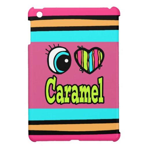 Caramelo brillante del amor del corazón I del ojo iPad Mini Carcasa