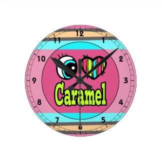Caramelo brillante del amor del corazón I del ojo Reloj