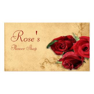 Caramelo Brown del vintage y florista color de ros Tarjeta De Negocio
