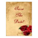 Caramelo Brown del vintage y reserva del rosa el b Postales