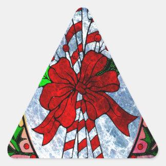 CARAMELO CANES.jpg del NAVIDAD Pegatina Triangular