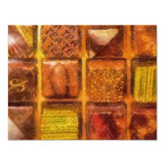 Caramelo - chocolates excelentes invitación 10,8 x 13,9 cm
