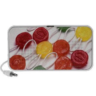 caramelo coloreado laptop altavoz