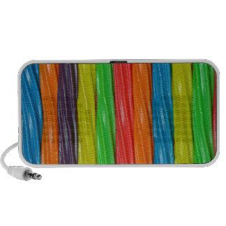 Caramelo coloreado arco iris del regaliz notebook altavoz
