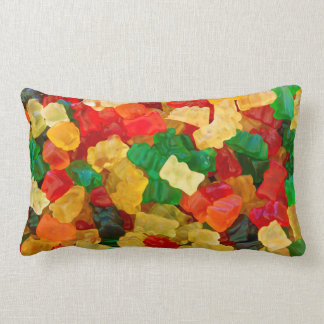 Caramelo coloreado arco iris gomoso del oso cojín lumbar
