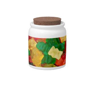 Caramelo coloreado arco iris gomoso del oso jarra para caramelo