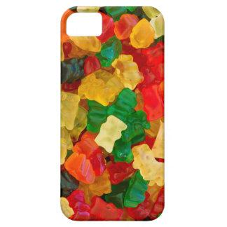 Caramelo coloreado arco iris gomoso del oso funda para iPhone 5 barely there