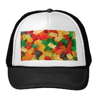 Caramelo coloreado arco iris gomoso del oso gorro de camionero