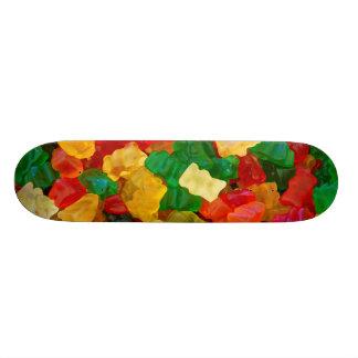 Caramelo coloreado arco iris gomoso del oso tablas de skate