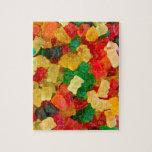Caramelo coloreado arco iris gomoso del oso rompecabeza