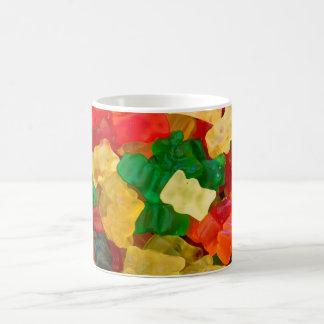 Caramelo coloreado arco iris gomoso del oso taza
