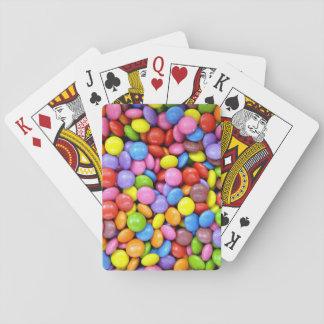 Caramelo colorido baraja de cartas
