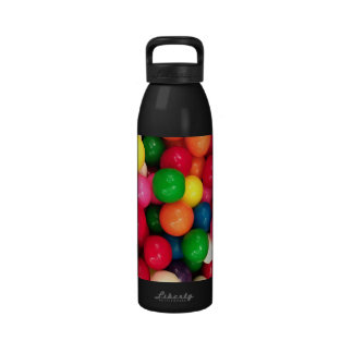 Caramelo colorido de la bola de goma botellas de agua reutilizables