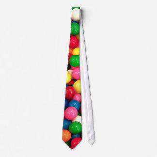 Caramelo colorido de la bola de goma corbatas personalizadas