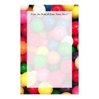 Caramelo colorido de la bola de goma personalized stationery