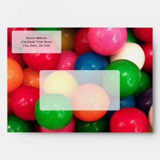 Caramelo colorido de la bola de goma