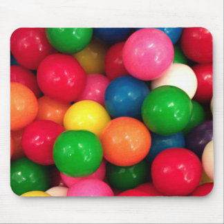 Caramelo colorido de la bola de goma alfombrilla de ratones