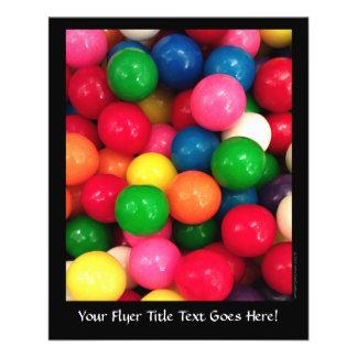 Caramelo colorido de la bola de goma tarjetones