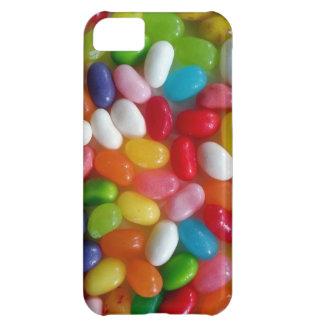 Caramelo colorido de las habas de jalea funda para iPhone 5C