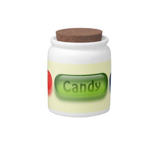 Caramelo colorido en su tarro personal del caramel tarro de cerámica para dulces