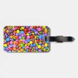 Caramelo colorido etiquetas bolsa