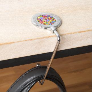 Caramelo colorido gancho para bolsos
