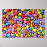Caramelo colorido impresiones