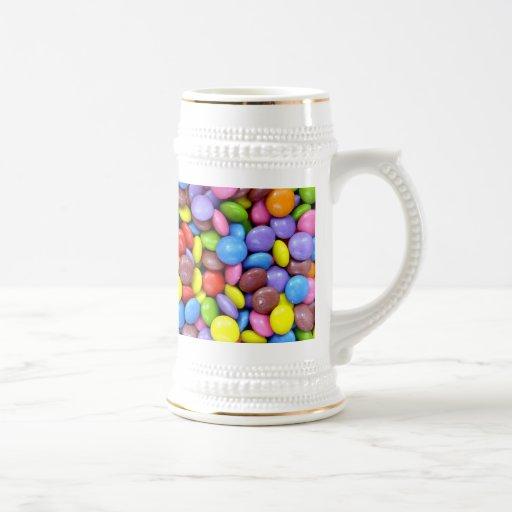 Caramelo colorido jarra de cerveza