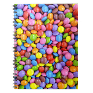 Caramelo colorido libros de apuntes con espiral