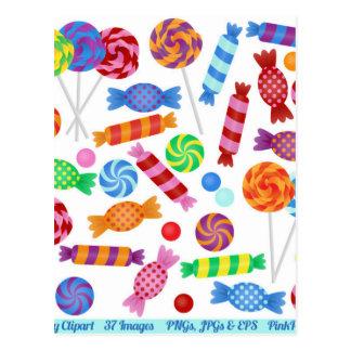 caramelo colorido postales