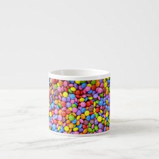 Caramelo colorido taza espresso