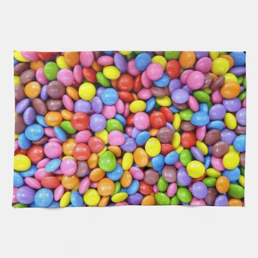 Caramelo colorido toalla de cocina