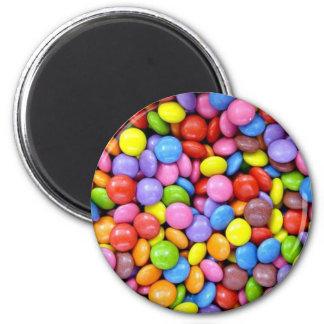 Caramelo: Confitería colorida Imán Redondo 5 Cm