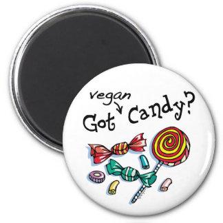 Caramelo conseguido de Halloween del vegano Imán Redondo 5 Cm